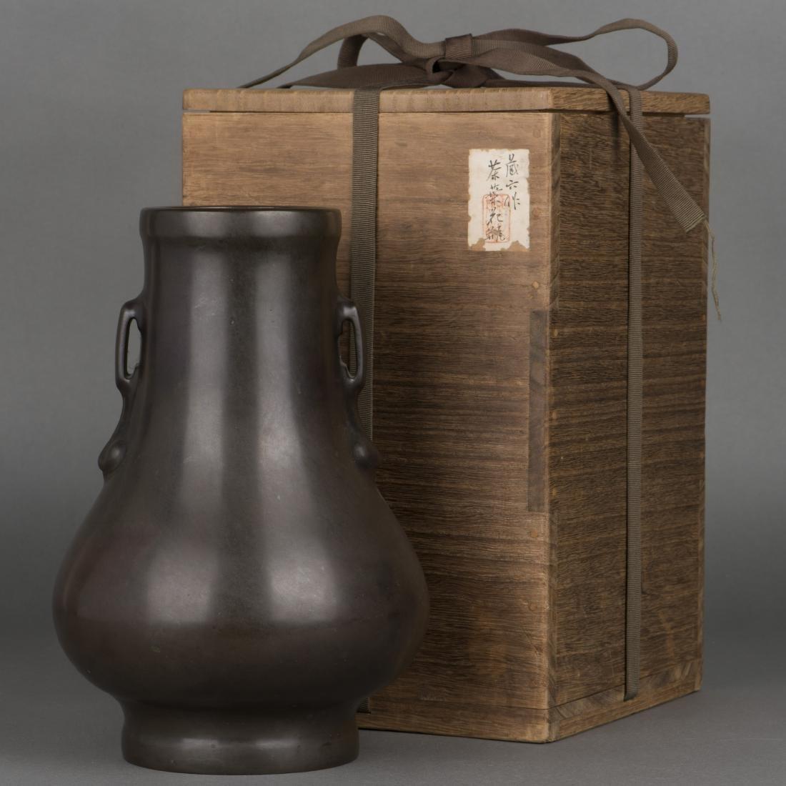 A HAN STYLE BRONZE ZUN VASE, 19TH CENTURY