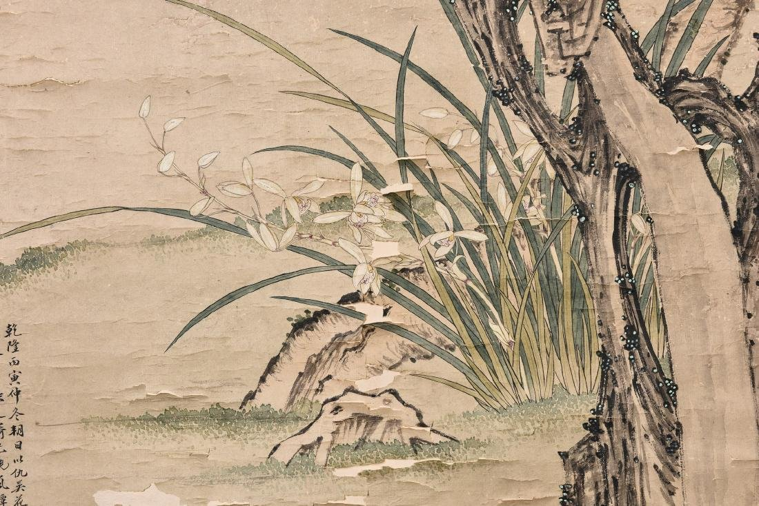 CHOU YING (STYLE OF, 1494-1552), FLOWER - 4