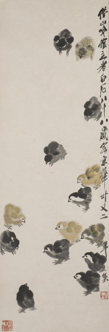 QI BAISHI (1864-1957), CHICKEN