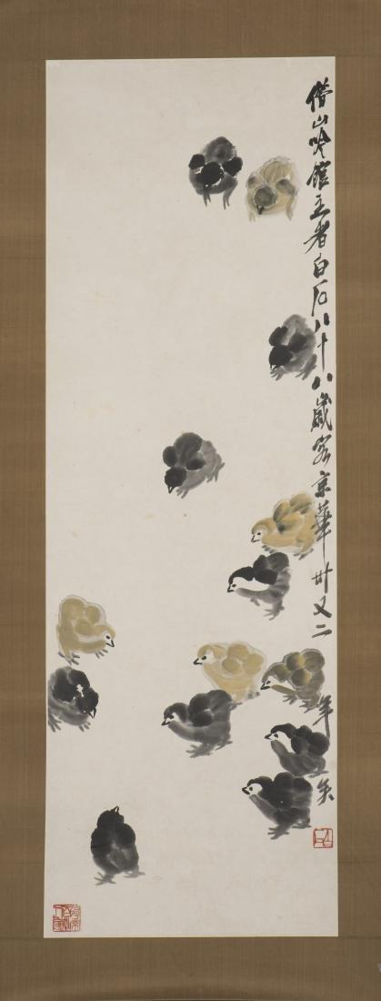 QI BAISHI (1864-1957), CHICKEN - 2
