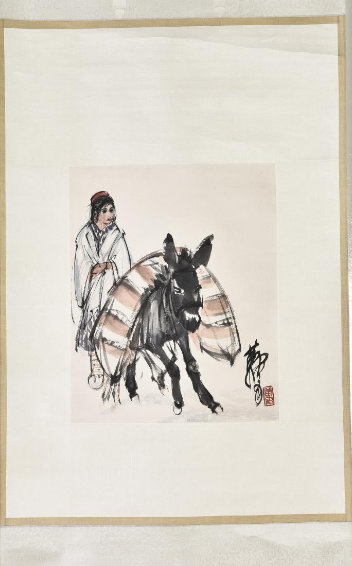 HUANG ZHOU (1925-1997), GIRL AND DONKEY
