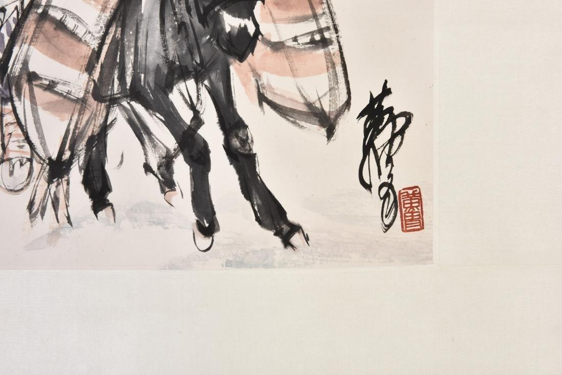HUANG ZHOU (1925-1997), GIRL AND DONKEY - 2