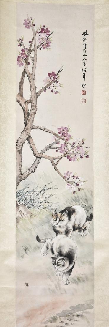 WU BONIAN (1840-1896), TWO CATS