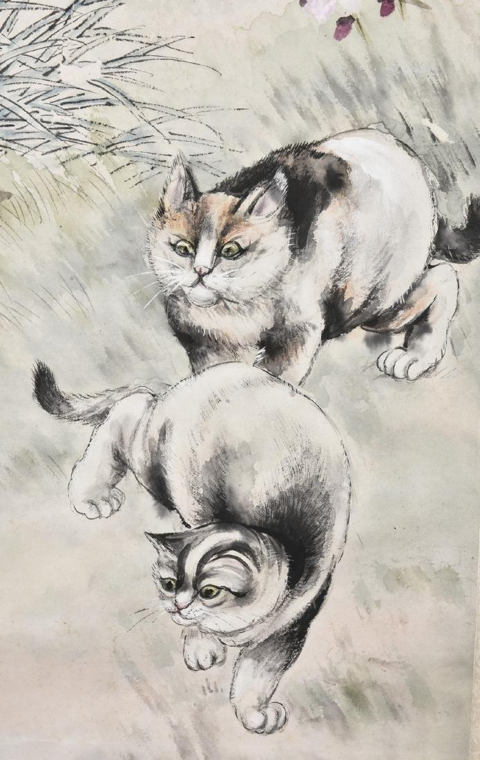 WU BONIAN (1840-1896), TWO CATS - 2