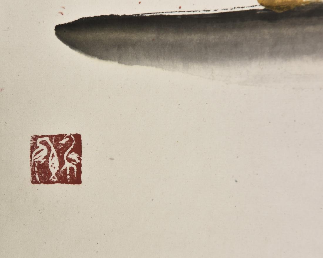 YANG ZHENGXIN (1942-), BIRD AND FLOWER - 2