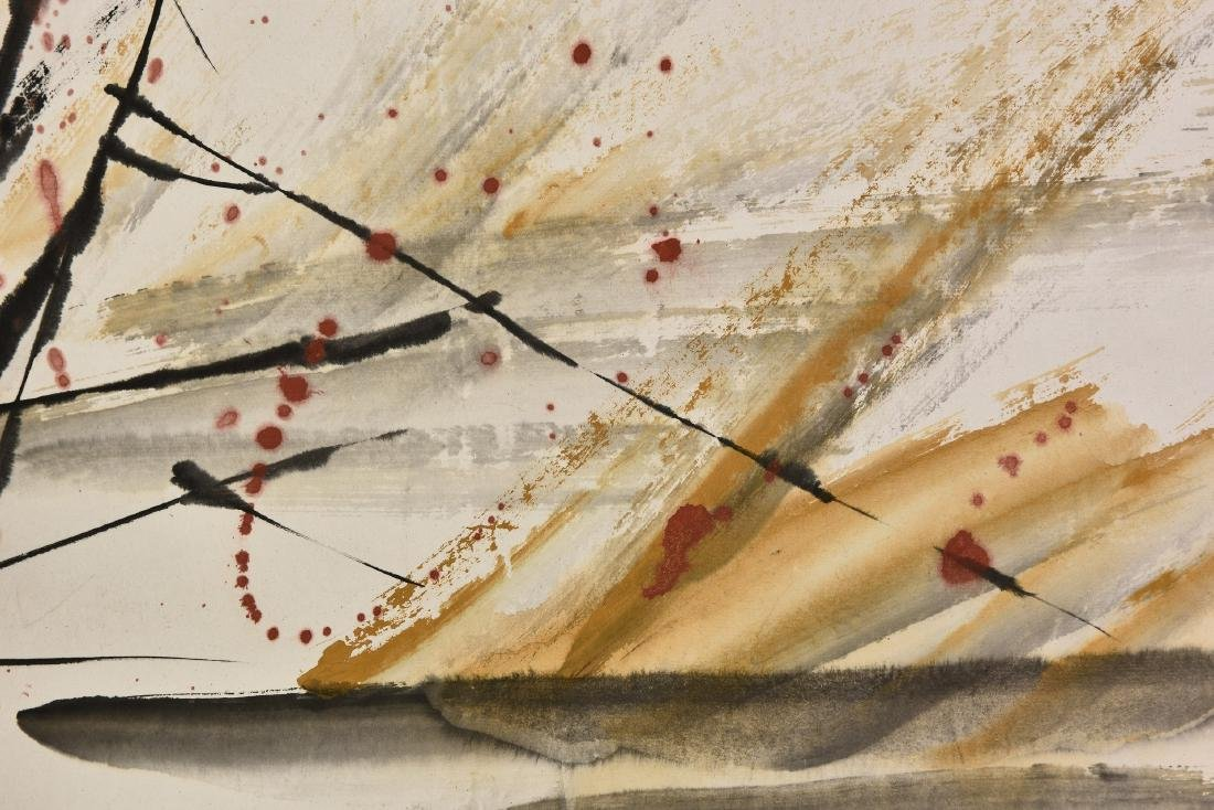 YANG ZHENGXIN (1942-), BIRD AND FLOWER - 5