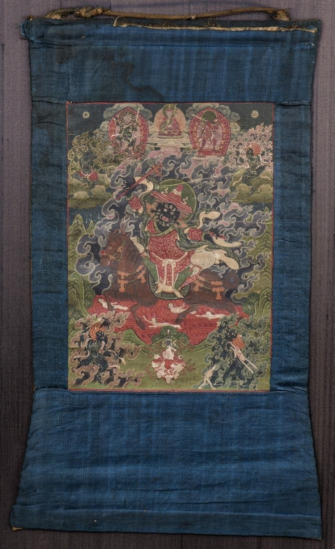 A THANGKA OF VAJRABHAIRAVA, QING DYNASTY
