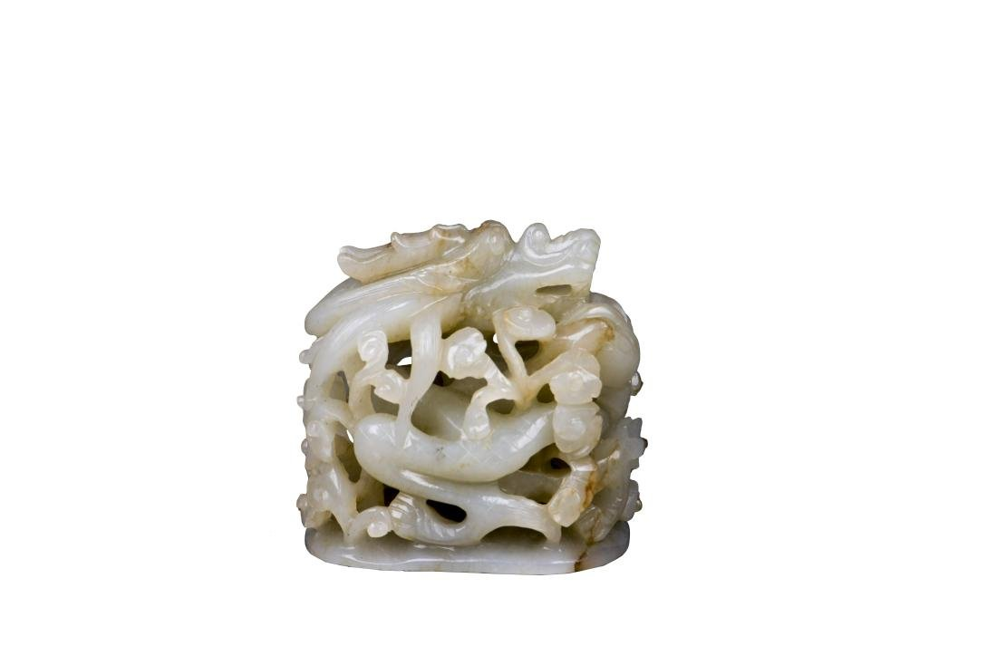 A WHITE JADE CARVING, YUAN DYNASTY
