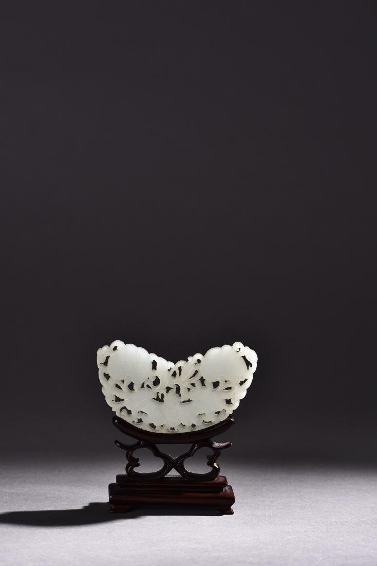 FOUR PIECES OF OPENWORK WHITE JADE - 4