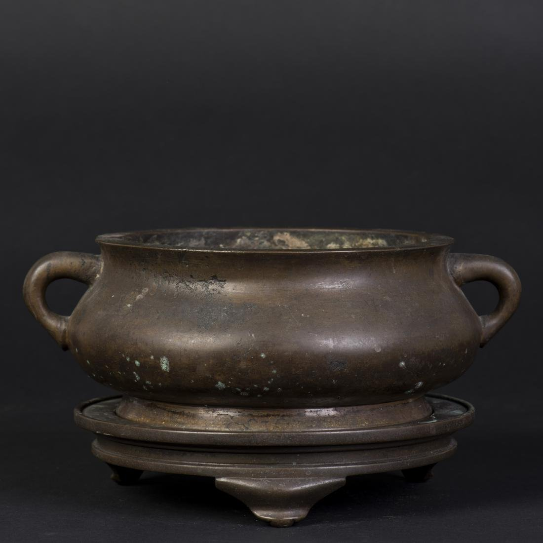 A BRONZE CENSER WITH XUAN DE MARK, QING DYNASTY, 18TH