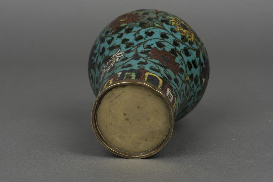 A CLOISONNE ENAMEL VASE, MEIPING, MING DYNASTY - 5