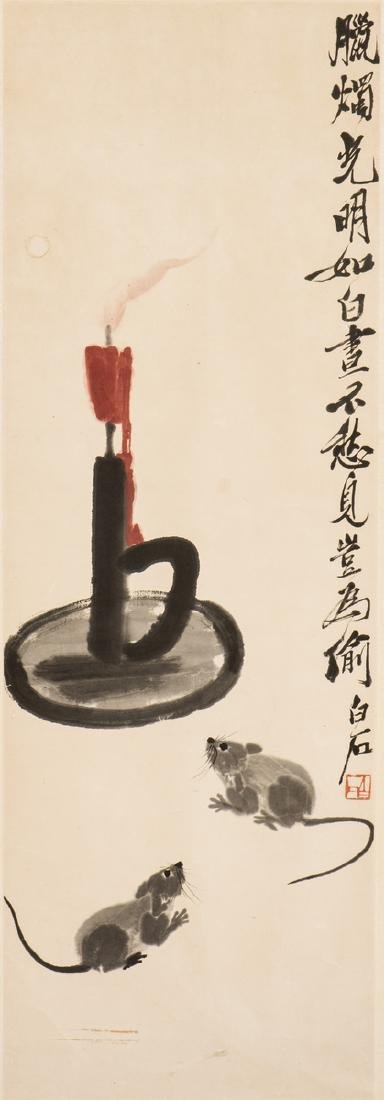 QI BAISHI (1864-1957), A CHINESE PAINTING OF MICE AND