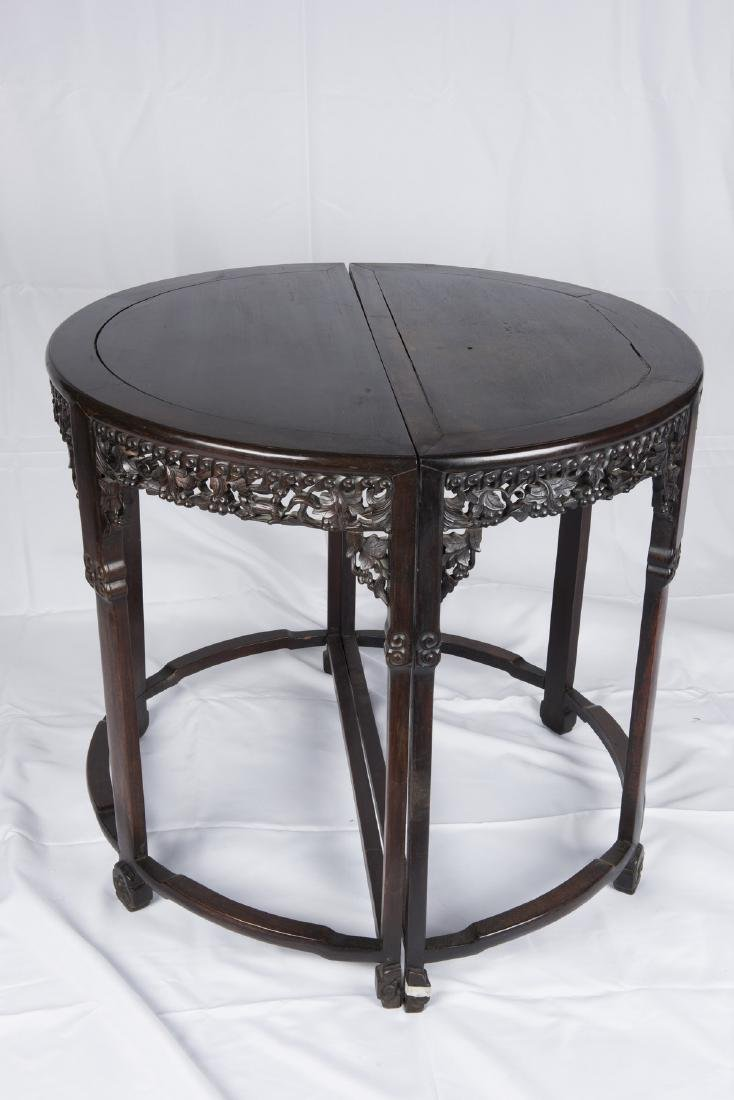 SUANZHI' CHINESE ROSEWOOD TABLES PAIR, QING DYNASTY (Y) - 4
