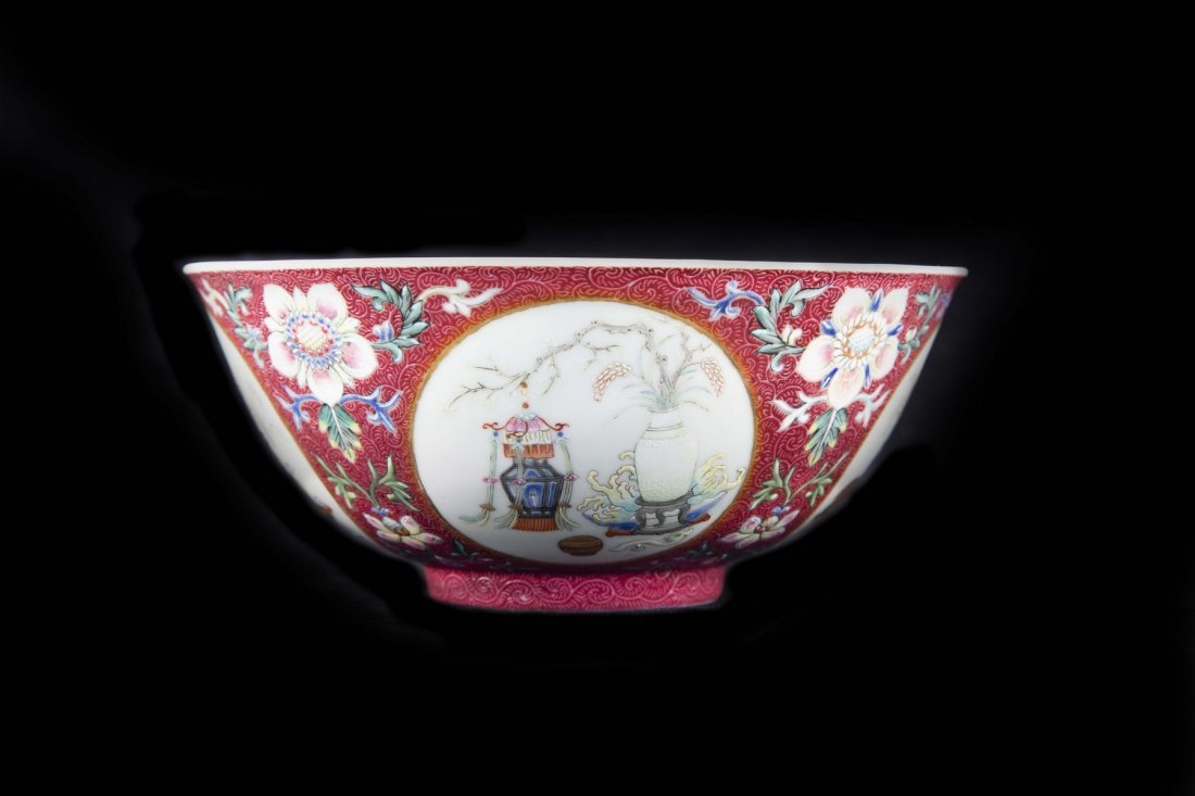A FAMILLE ROSE MEDALLION BOWL, DAOGUANG PERIOD - 2