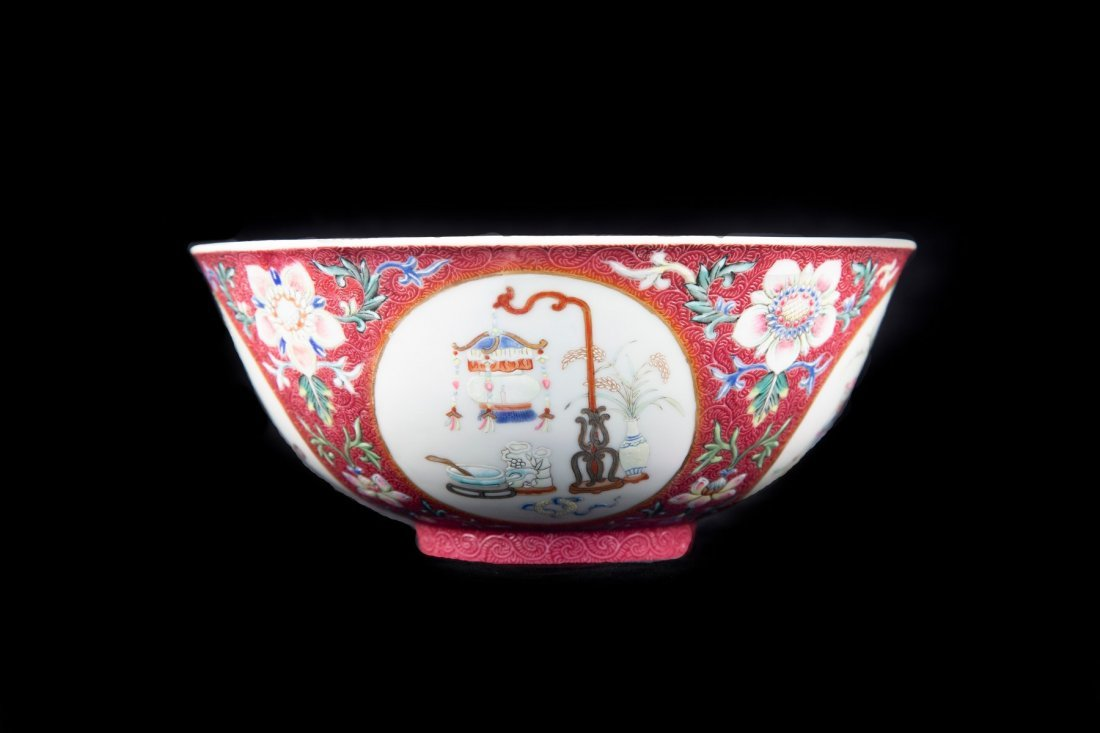 A FAMILLE ROSE MEDALLION BOWL, DAOGUANG PERIOD - 3