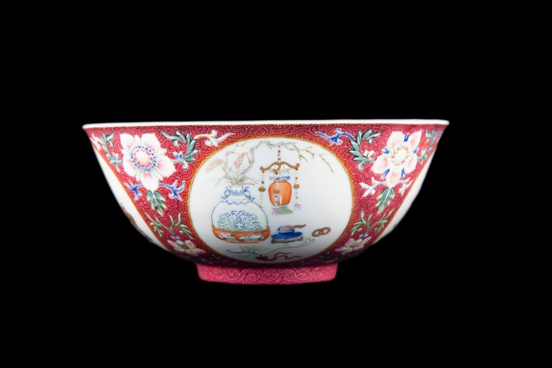 A FAMILLE ROSE MEDALLION BOWL, DAOGUANG PERIOD - 4