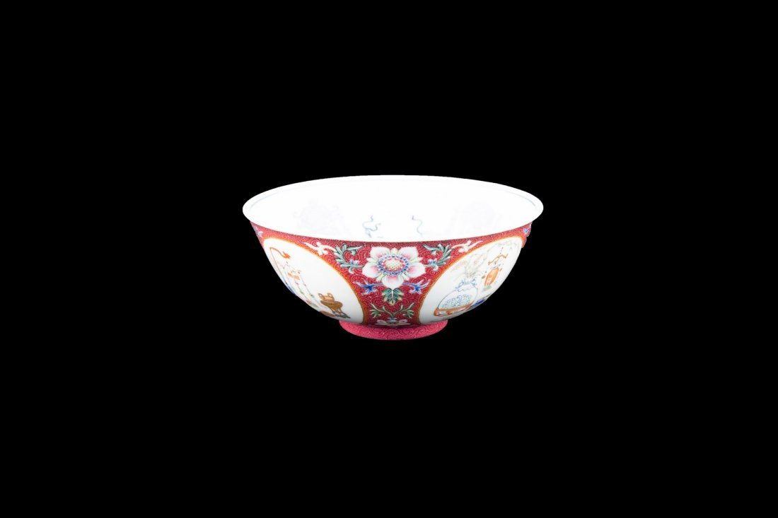 A FAMILLE ROSE MEDALLION BOWL, DAOGUANG PERIOD - 5