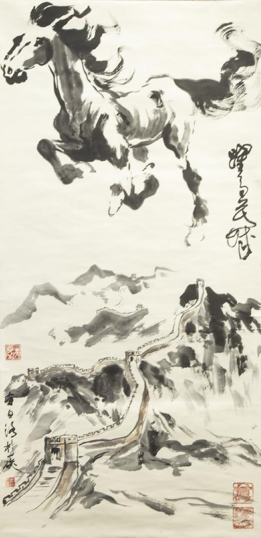 YE ZUIBAI (1909-1999), HORSE