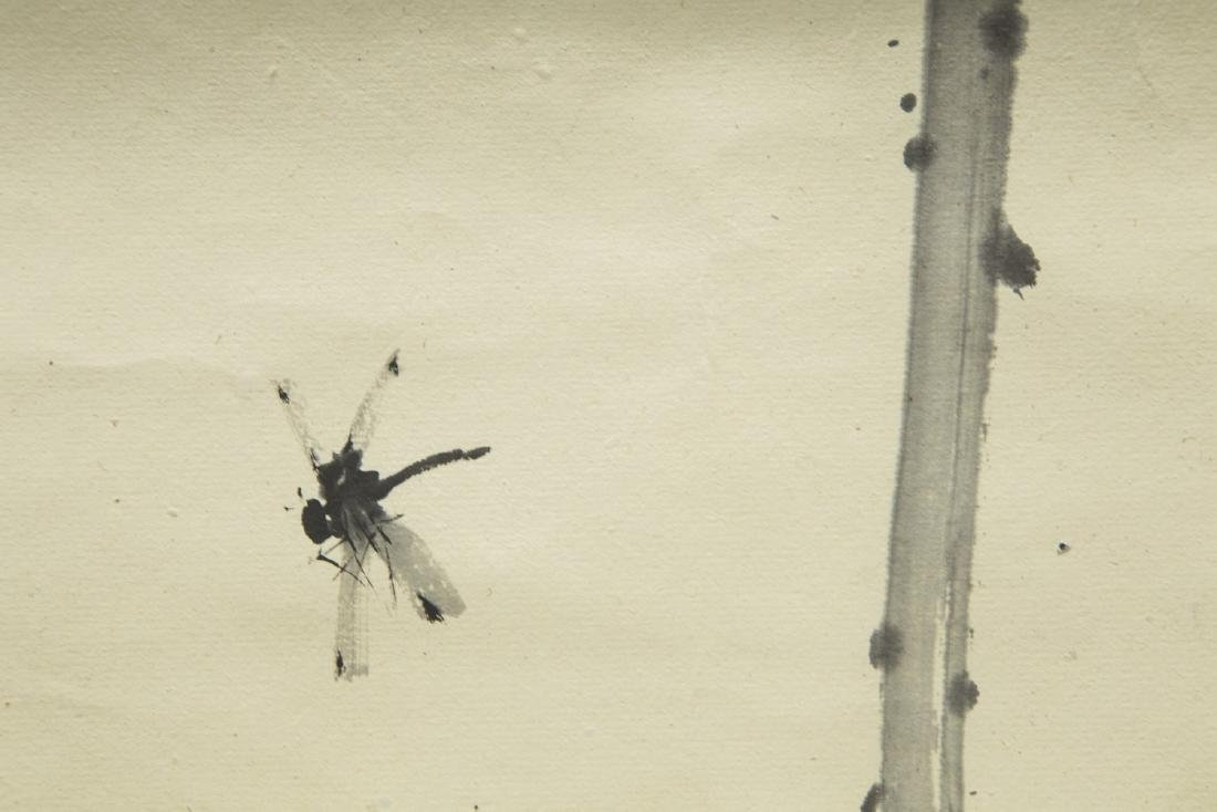 HUANG LEISHEN (1928-2011), DRAGONFLY AND LOTUS - 3