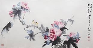 ZHOU QIANQIU 19102006 BIRD AND FLOWER
