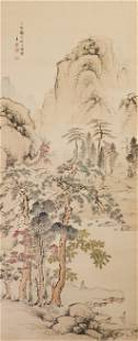 ANONYMOUSQING DYNASTY LANDSCAPE AND FIGURE