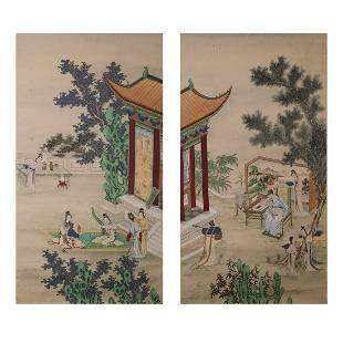 LOT OF 2, ANONYMOUS, OFFICIAL COURTYARD