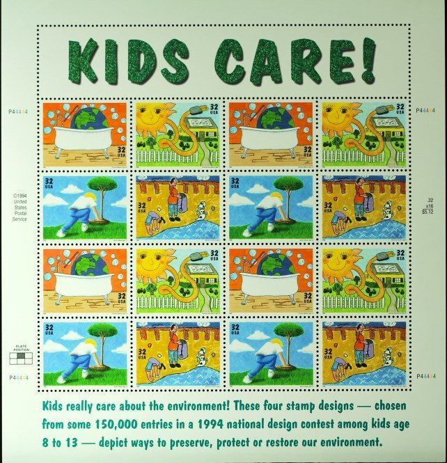 1994 USA Kids Care Stamps