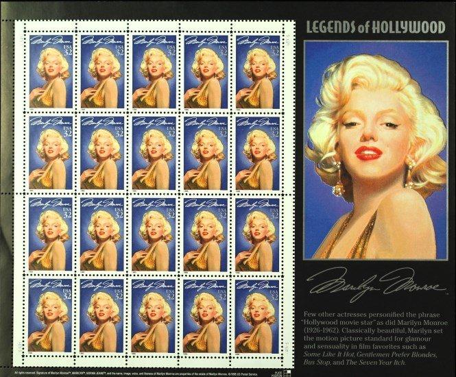 1995 Legends of Hollywood Stamps