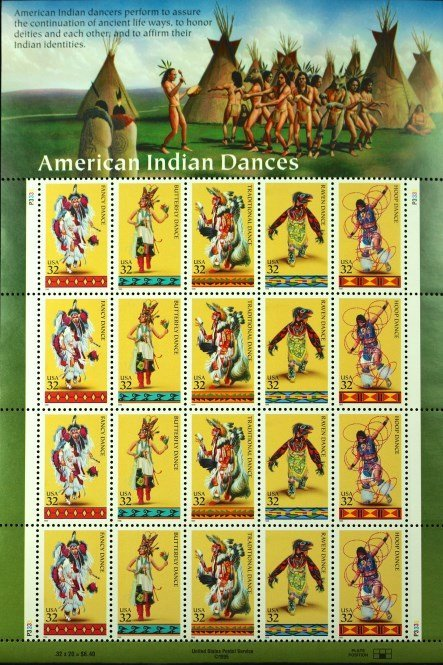 1995 American Indian Dances Stamps