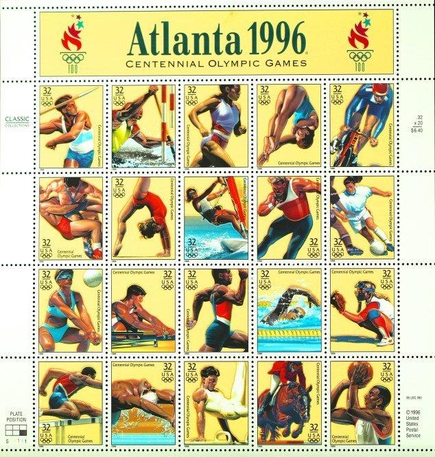 1996 Atlanta Centennial Olympic Games  Stamps
