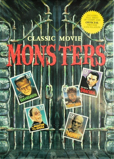 USA Classic Movie Mons Ters Stamps