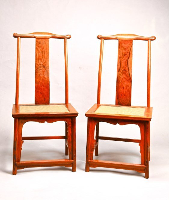 A Pair of Chinese Hardwood Chair