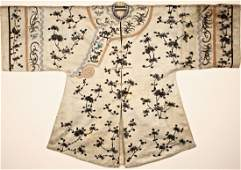 Chinese Silk Embroidered Robe late 19th century