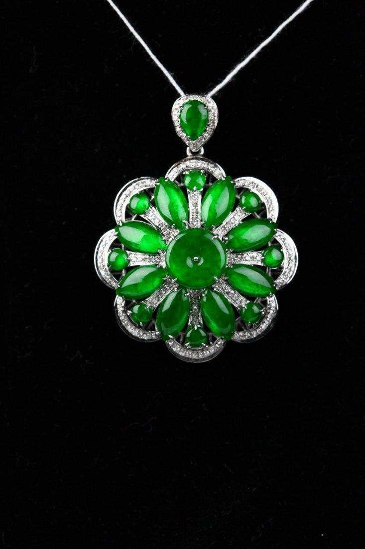 Translucent Green Jadeite Pendant, Comes with GIA Certi