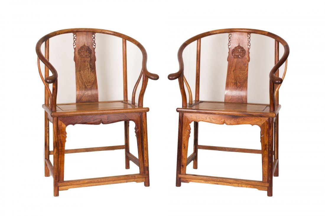 A pair of Huanghuali Chairs