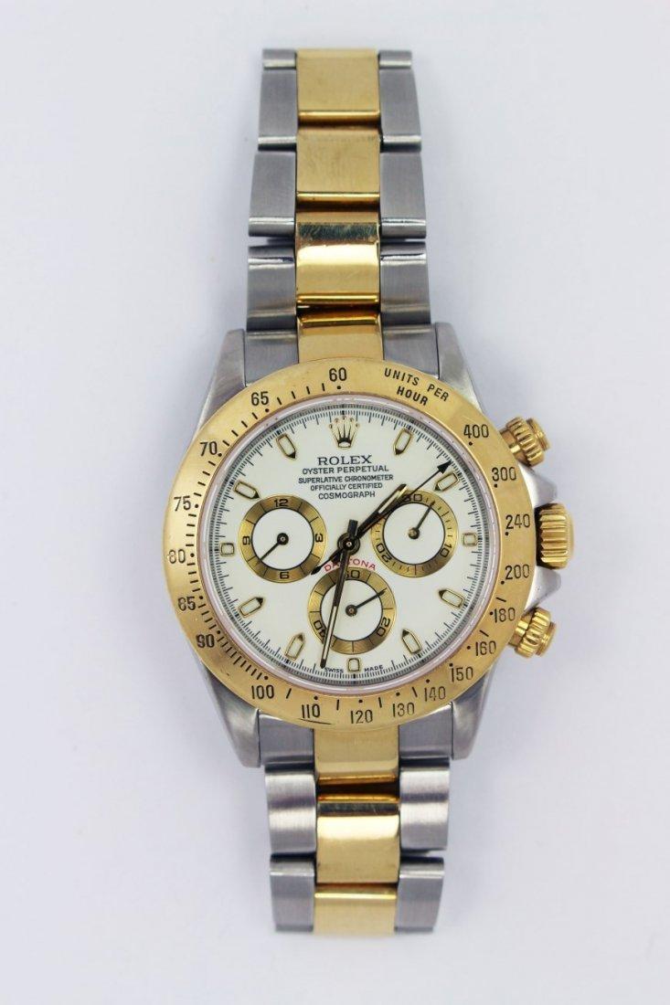 Mens Rolex Daytona Two-Tone Stainless & 18K watch
