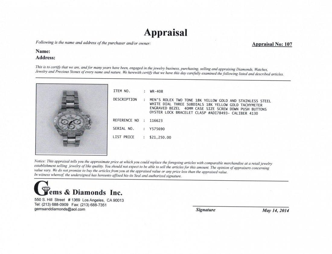 Mens Rolex Daytona Two-Tone Stainless & 18K watch - 5