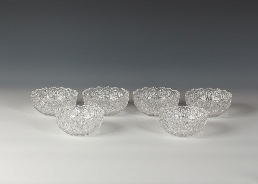 Six pieces Handmade Crystal Bowl