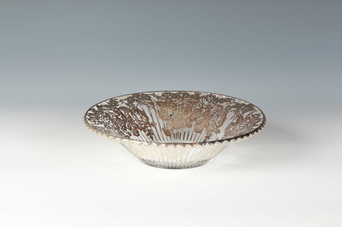 Silver overlaid Glass or Crystal Plateau