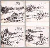 Chinese Scroll Painting x2 by  Huang Binhong