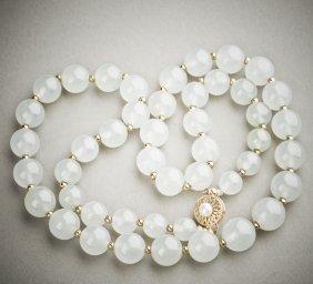 A Jadeite Jade Necklace, Gia