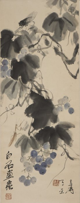 A Chinese Scroll Painting, After Qi Baishi
