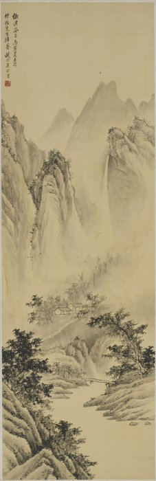 A Chinese Painting Of Landscape Motif, After Wu