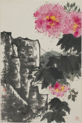 A Chinese Painting Of Floral Motif, After Xie Zhiliu