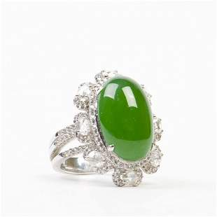 A OMPHACITE JADE RING