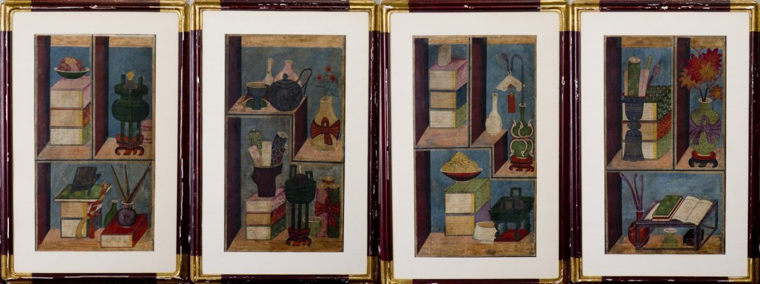 ANONYMOUS, A SET OF FOUR PAINTINGS