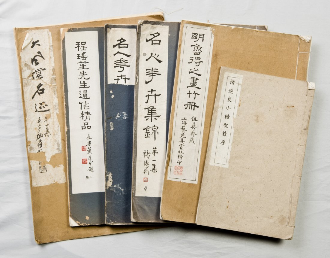 A SET OF SIX BOOKS OF PAINTING AND CALLIGRAPHY