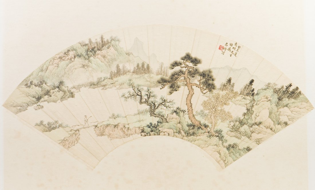 A CHINESE FAN PAINTING