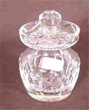 """WATERFORD CRYSTAL MUSTARD JAR 4""""H"""