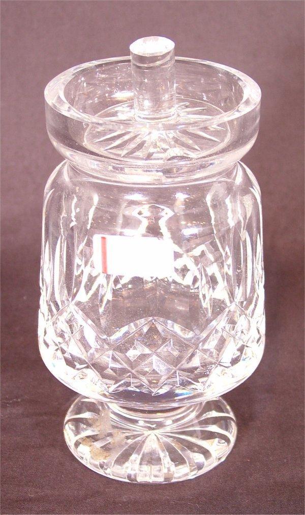 "3106: WATERFORD CRYSTAL JAM & JELLY JAR 5 1/2""H"